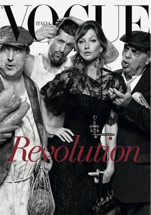 Gisèle Bundchen en couverture du Vogue Italie de Juillet...