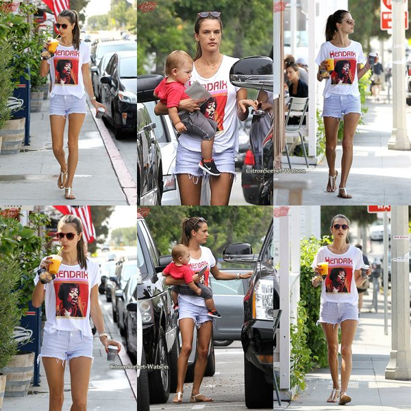 Le 02.06.13 : Alessandra et sa fille Anja aident Noah à marcher tout en allant à l'école...