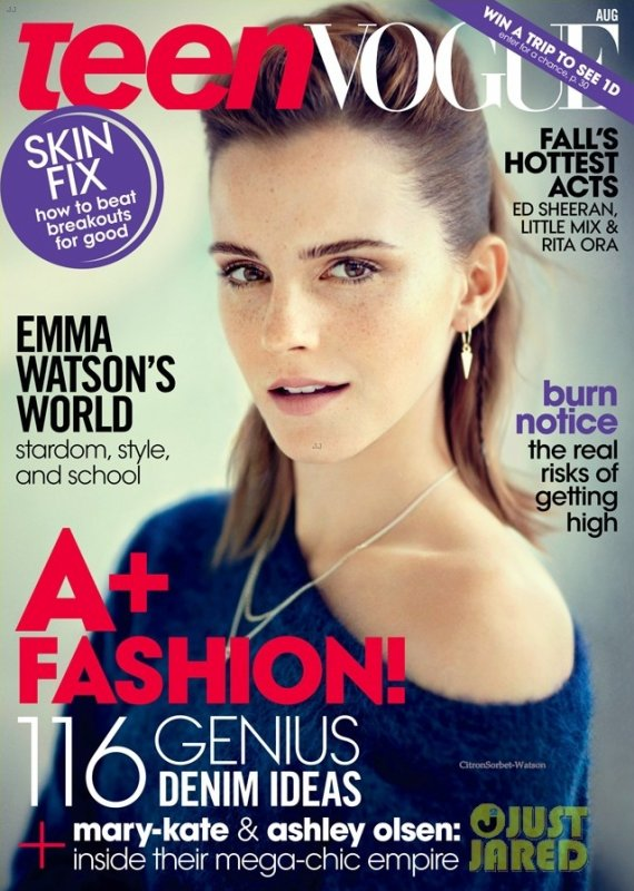 Emma Watson en couverture du TeenVogue d'Aout 2013...
