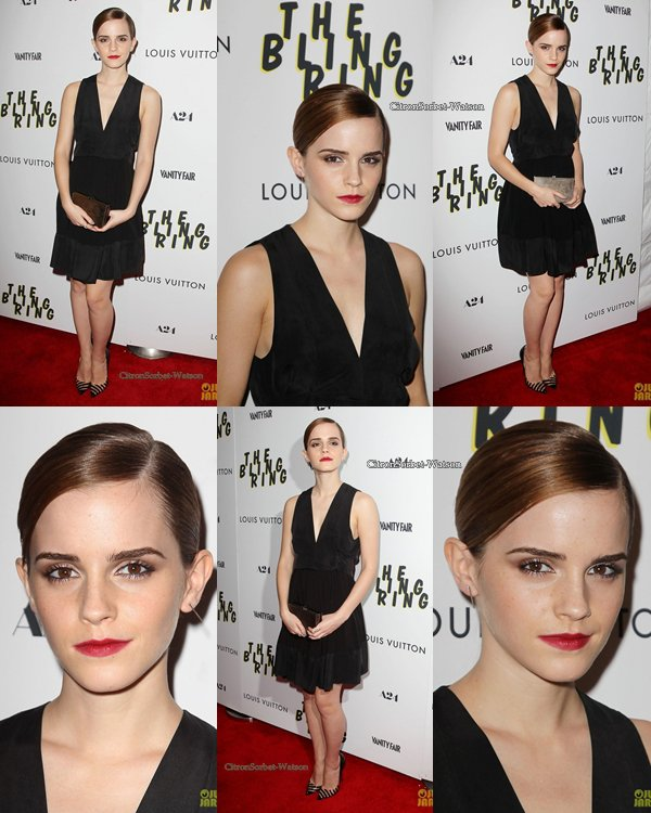 "(Article flash-back) Le 04.06.13 : Emma Watson était à la Première de son film ""The Bling Ring"" ..."