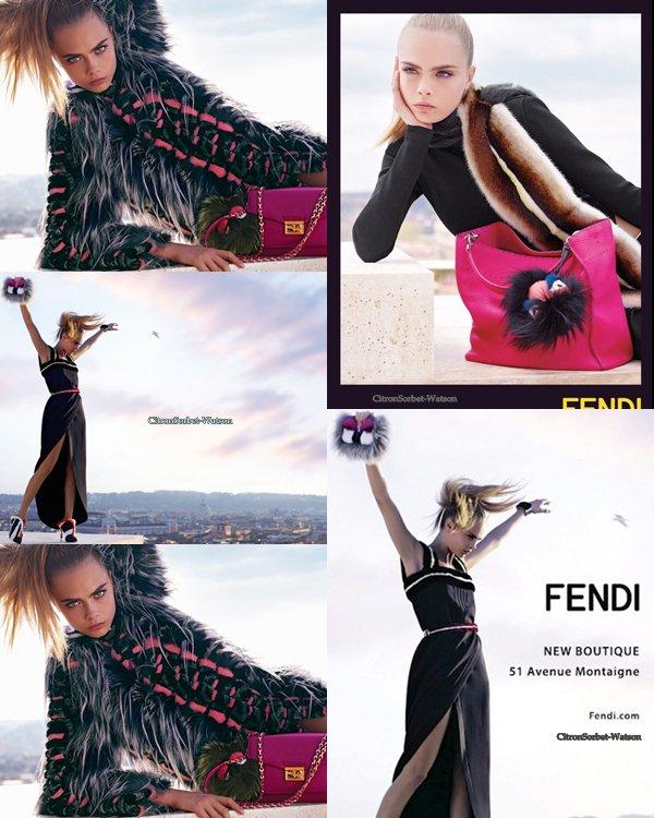 Cara Delevingne pour la campagne Automne/Hiver  2013-2014 de la marque Fendi...