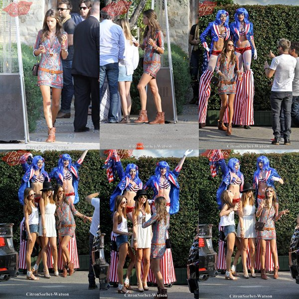 Le 04.07.13 : Alessandra et son mari Jamie étaient à Malibu pour célébrer le jour de l'indépendance...