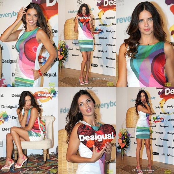Le 09.07.13 : Adriana inaugurait un magasin Desigual à Barcelone...