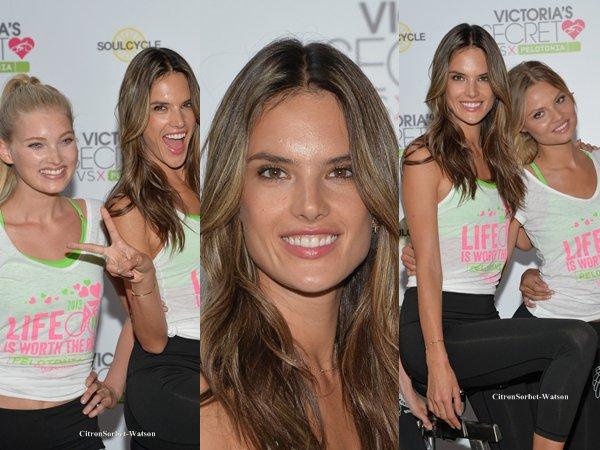 Le 09.07.13 : Alessandra et d'autres top models étaient présentes pour sponsoriser Victoria Secret VSX...