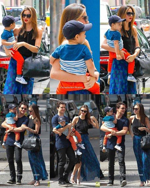 Le 13.07.13 : Miranda accompagnée de son mari Orlando et de son fis Flynn se sont baladés dans New-York...