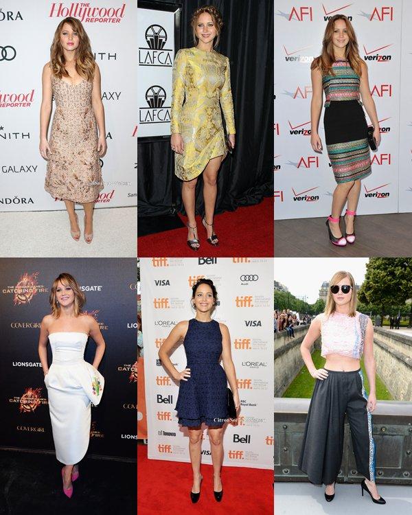 Article spécial : Les différentes tenues de Jennifer Lawrence lors de sorties officielles...