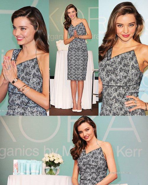Le 22.07.13 : Miranda était à une conférence de presse à Tokyo pour promouvoir sa marque KORA organics...