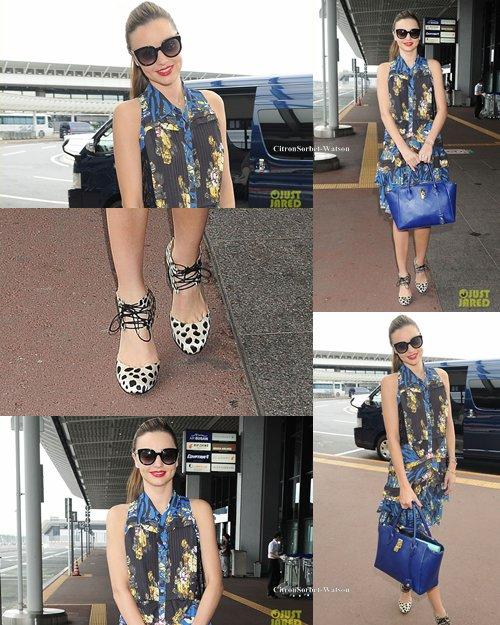 Le 24.07.13 : Miranda était à l'aéroport de Tokyo pour certainement rentrer aux Etats-Unis...