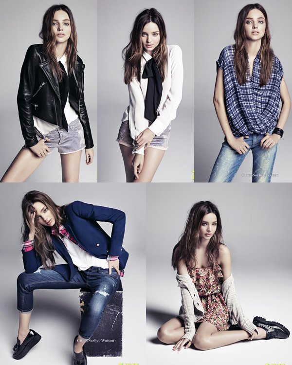 Photoshoot de Miranda pour la marque Mango -Fall 2013- ...