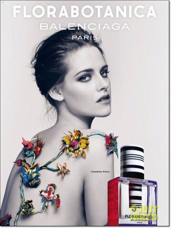 Voici la nouvelle affiche pour le nouveau parfum de la maison Balenciaga où l'on voit Kristen Stewart...