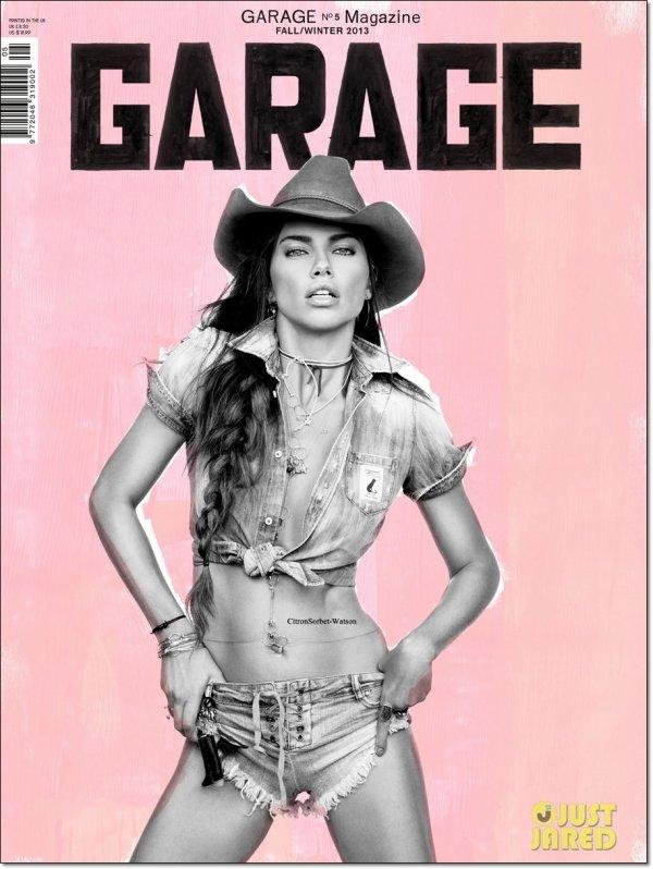 """Adriana Lima est en couverture du magazine """"Garage"""" pour l'édition Fall/Winter 2013..."""