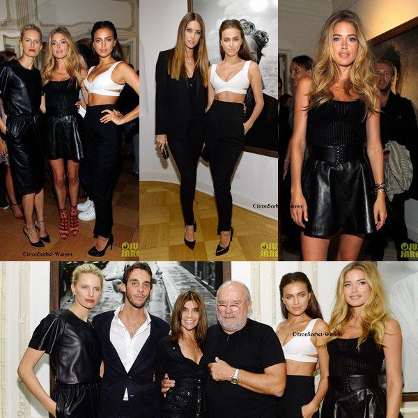 Le 07.09.13 : Les top Irina,Doutzen,Lindsay,Karolina et Alessandra étaient à l'exposition de Peter Lindbergh à New-York...
