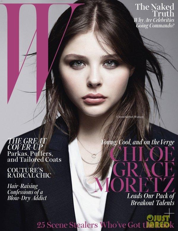 """Chloe en couverture du magazine """"W"""" du mois d'Octobre 2013..."""
