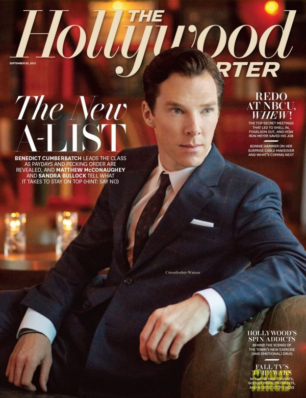 Benedict en couverture du Hollywood Reporter de Septembre...