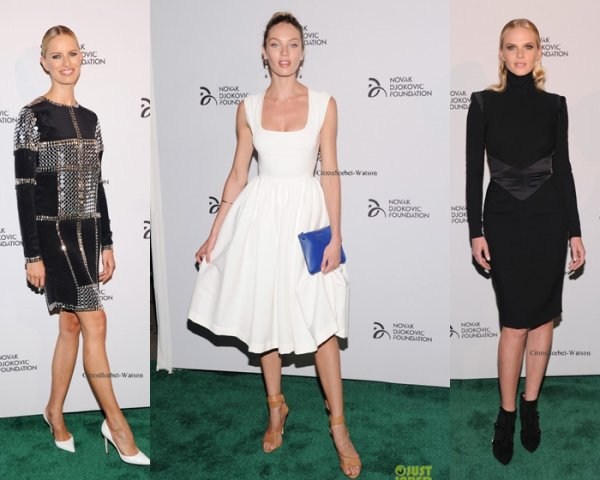 Le 10.09.13 : Adriana,Toni,Selita,Karlie,Anne,Candice et Karolina était au dinner de la fondation Novak Djokovic...