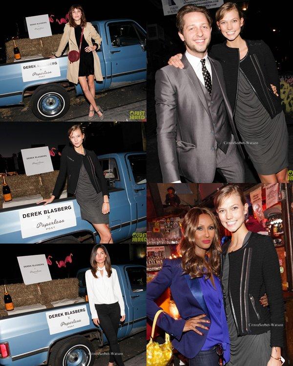 Le 24.09.13 : Karlie,Lily,Alexa et Iman étaient à la soirée Post Launch organisée par Derek Blasberg...