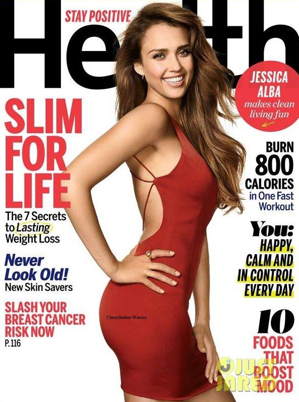 Jessica en couverture du magazine Health d'Octobre 2013...