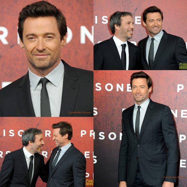 Le 26.09.13 : Hugh était à Berlin pour la première de son film Prisoners...