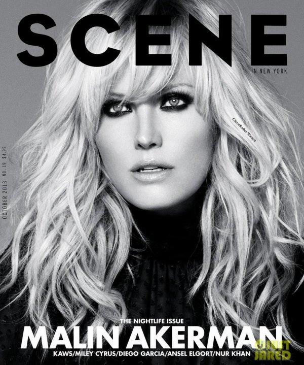Malin en couverture du magazine Scene du mois d'octobre 2013...