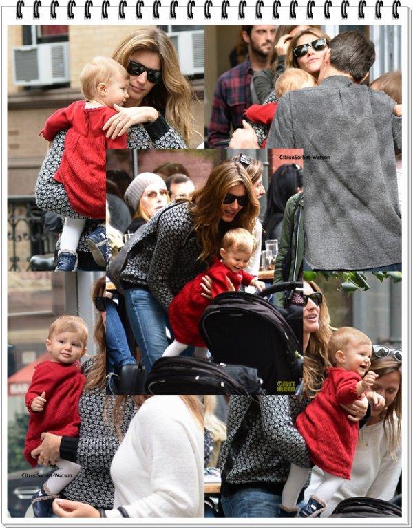 Le 19.10.13 : Gisèle est allée faire du shopping dans New-York accompagnée de sa fille Vivian...