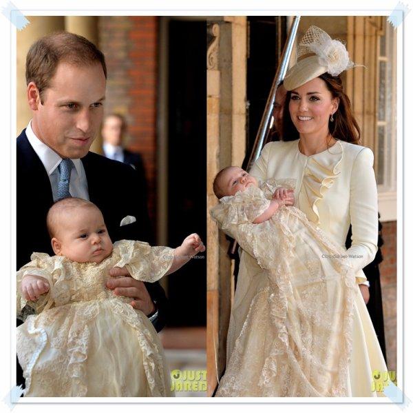 Le 23.10.13 : Le petit Prince George a été baptisé en la chapelle royale St James de Londres...