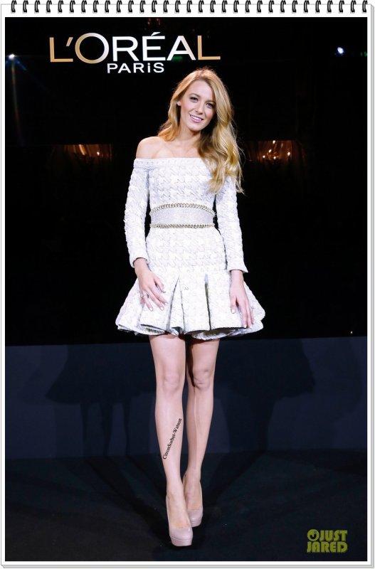 Le 29.10.13 : Blake était à l'hôtel Shangri-La à Paris en tant que nouvelle égérie de la marque L'Oréal...
