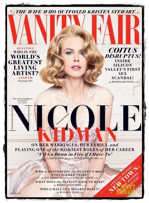 Nicole en couverture de l'édition de Décembre 2013 du magazine Vanity Fair...