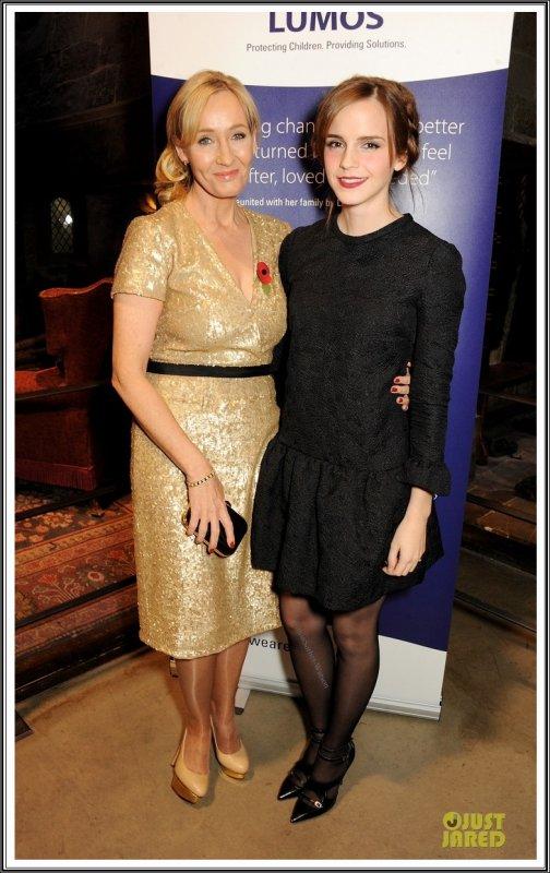 Le 09.11.13 : Emma s'est rendue à un évènement de la fondation Lumos à Londres...