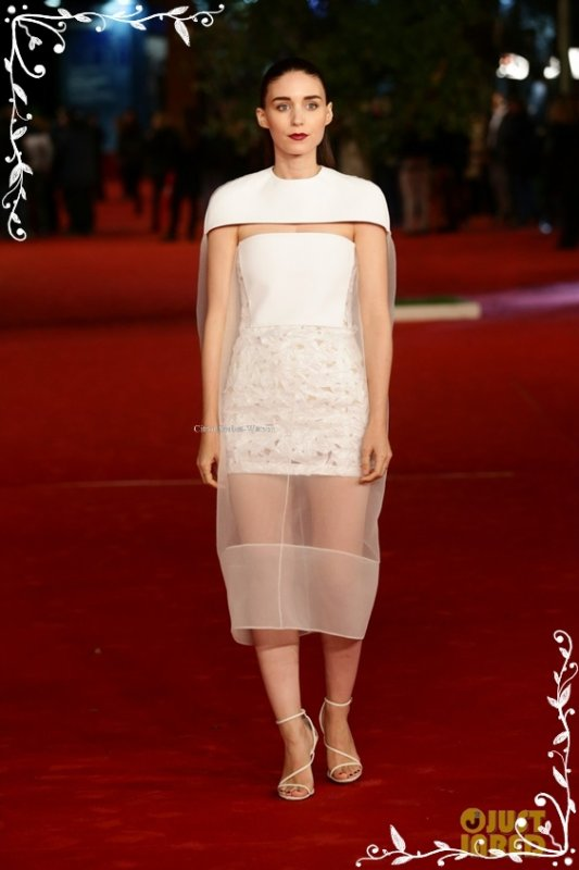 """Le 10.11.13 : Rooney au festival du film à Rome pour présenter son film """"Her""""..."""