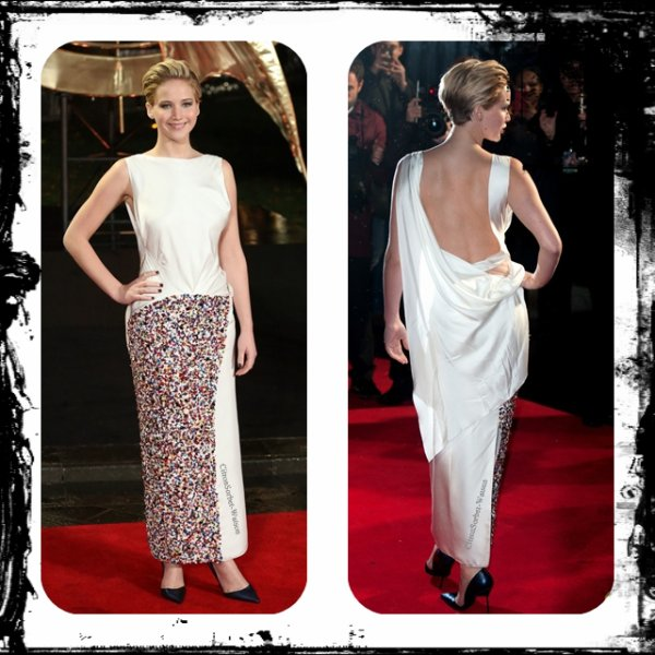 "Le 11.11.13 : Jennifer était à la première de son film ""The Hunger Games : Catching Fire"" à Londres..."