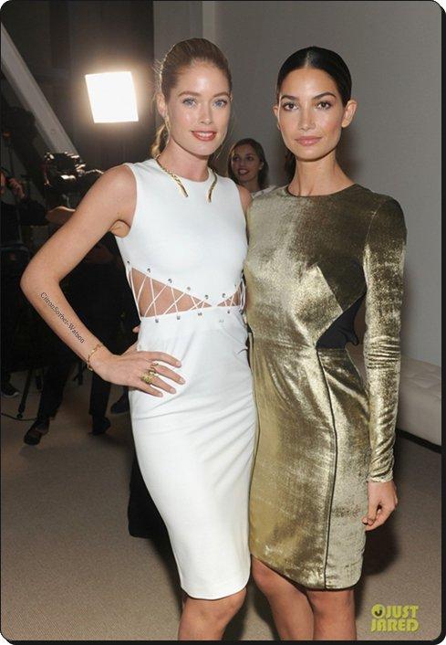 Le 11.11.13 : Doutzen et Lily étaient à la finale de la CFDA/Vogue Fashion à New-York...