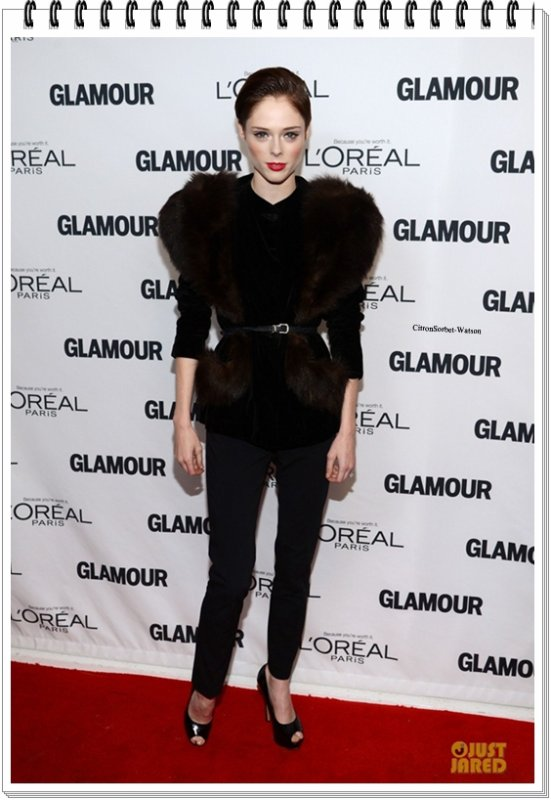 Le 11.11.13 : Coco était présente aux Glamour Women of the Year Award à New-York...