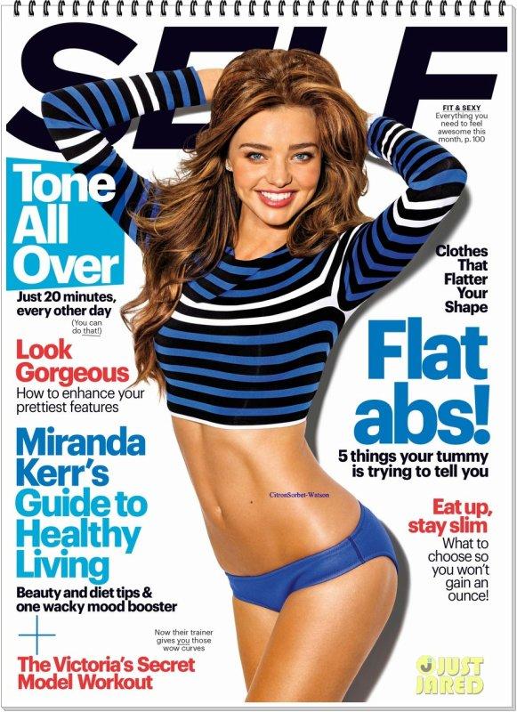 Miranda en couverture de l'édition de Décembre du magazine Self...