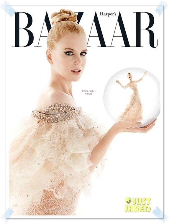 Nicole pour l'édition de Décembre du magazine Harper's Bazaar Australia...