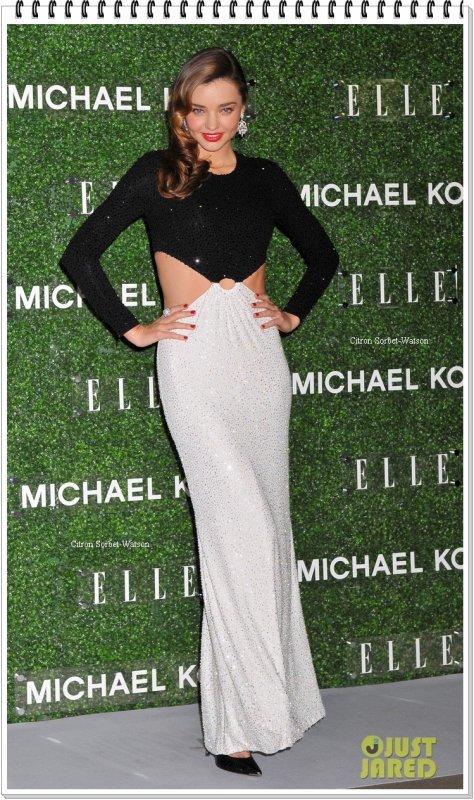Le 13.11.13 : Miranda était à une soirée à Tokyo organisée par Michael Kors pour le Elle Japan Décembre dont elle fait la couverture...