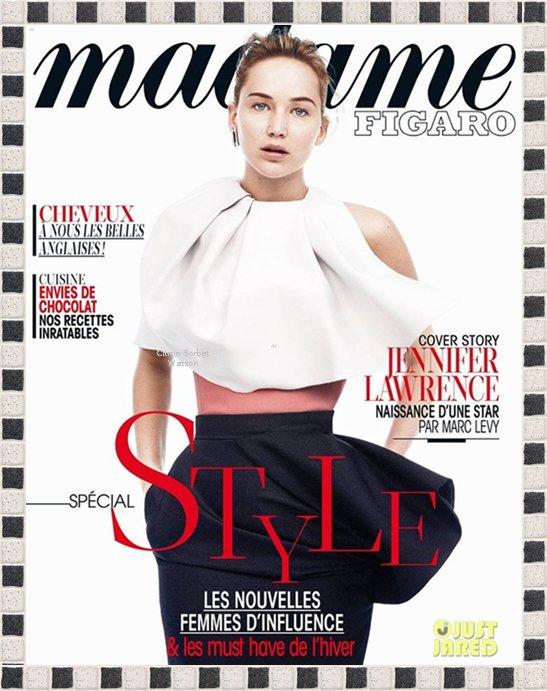 Jennifer en couverture de l'édition spéciale du magazine Madame Figaro...