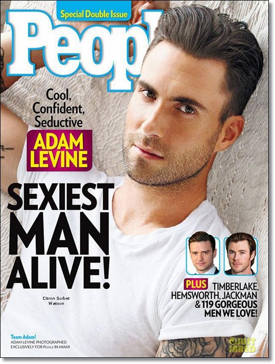Adam en couverture du magazine People...