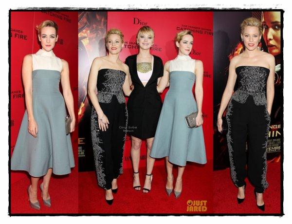 """Le 20.11.13 : Jennifer et ses co-satars étaient à New-York pour la première de """"Hunger Games""""..."""