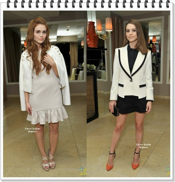 "Le 20.11.13 : Lyndsy et Holland étaient au ""Rachel Zoe Report ReLaunch Event"" à Los Angeles..."