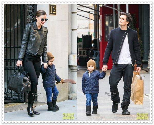 Miranda Kerr a déposé son fils Flynn chez Orlando Bloom...