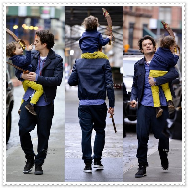Orlando Bloom et son fils Flynn...