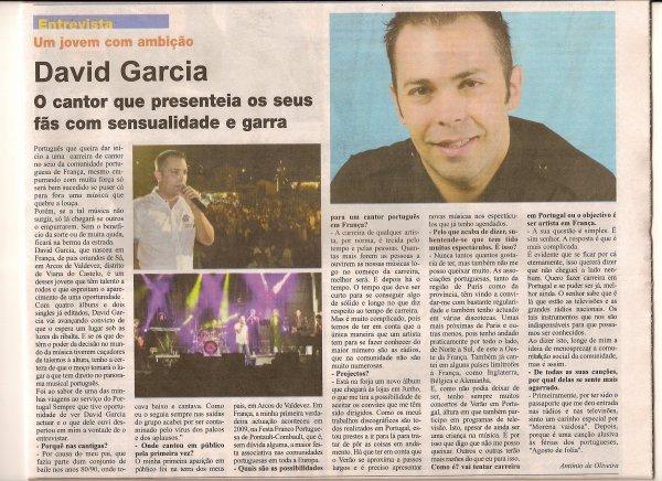 Entrevista para o jornal Portugal sempre