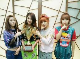 4MINUTE MBC SHOW CHAMPION WINNER