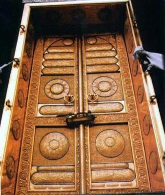 Porte de la kaaba a la mecque mon islam for Interieur de kaaba