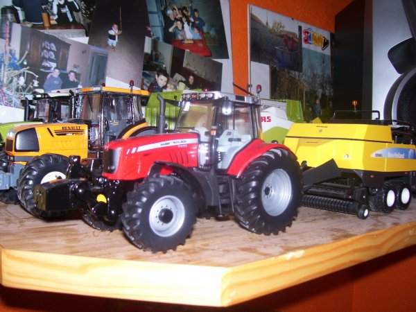 Massey ferguson 7480 presse new holland BB 960A