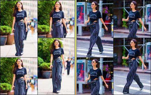 - -• 23/06/18-': Victoria D. Justice a été photographiée lorsqu'elle se trouvait être dans les rues de New-York. C'est dans une tenue assez décontractée mais cependant très jolie que nous retrouvons notre superbe chanteuse. Je lui offre un bon top. -