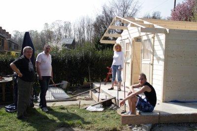 Construction du bungalow D'élevage ou mes camarades seront installer
