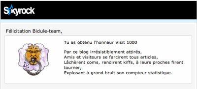 Chasseur 100 / 100ème visite