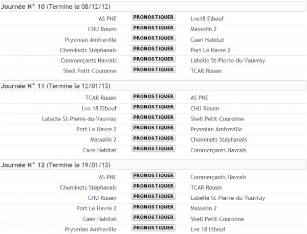 Concours de Pronostics (Journées 10-11-12)
