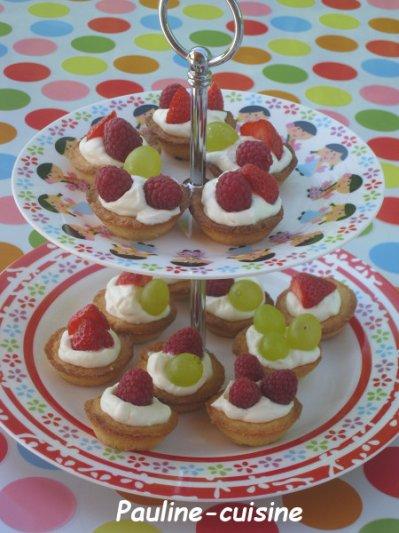 Mini tartelettes aux fruits frais